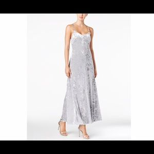 Calvin Klein Silver Crushed Velvet Dress Sz 10